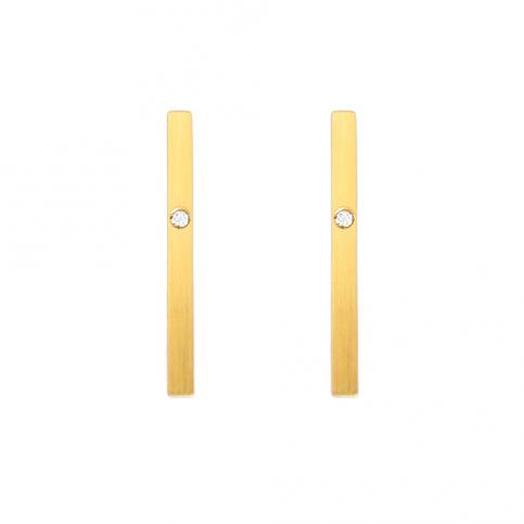 Golden Segment Earrings