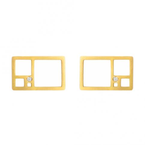 Golden Rectangle Earrings
