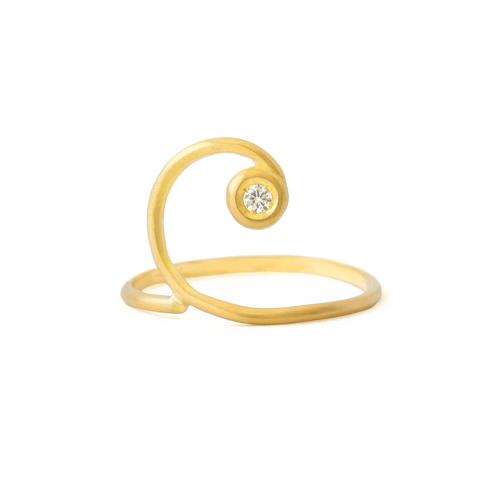 Anillo Espiral Aurea