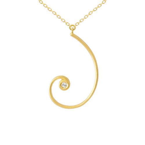 Golden spiral pendant natalie aurea golden spiral pendant aloadofball Image collections