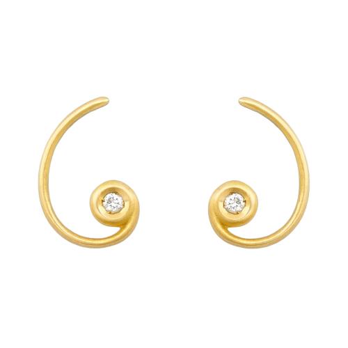 Pendiente Espiral Aurea
