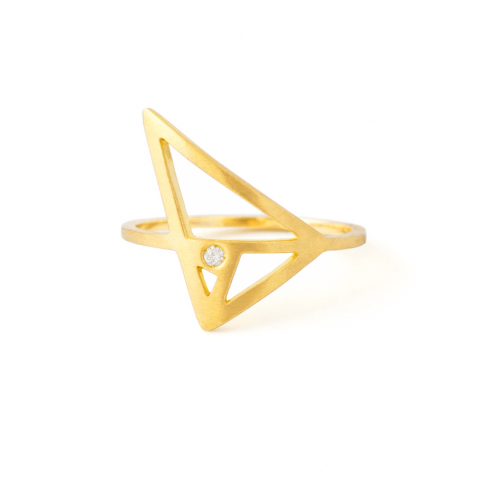 Golden Triangle Ring