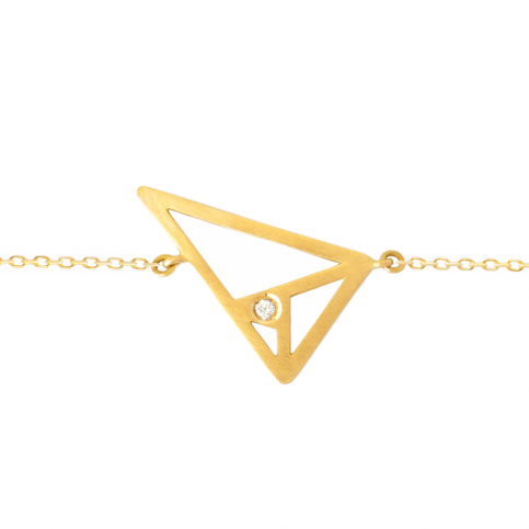 Golden Triangle Bracelet