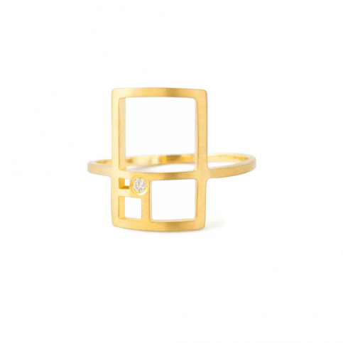 Golden Rectangle Ring