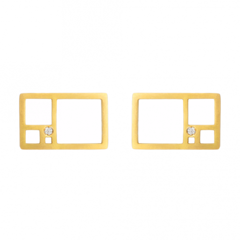 Golden Rectangle Earrings